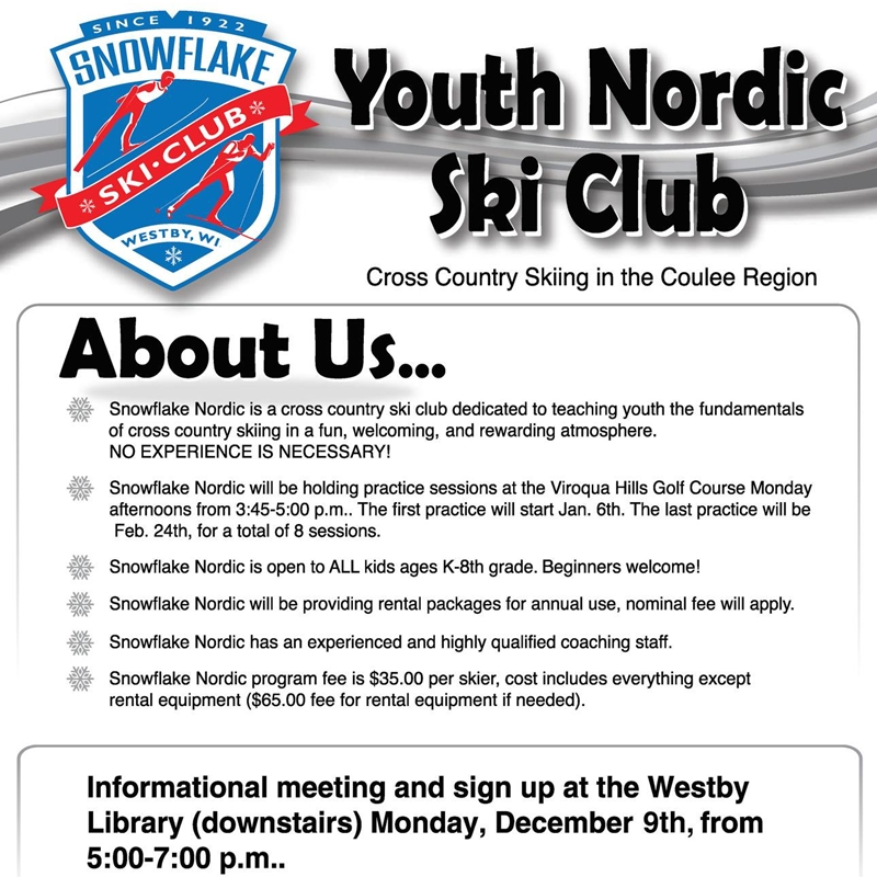 Youth Nordic Ski Club