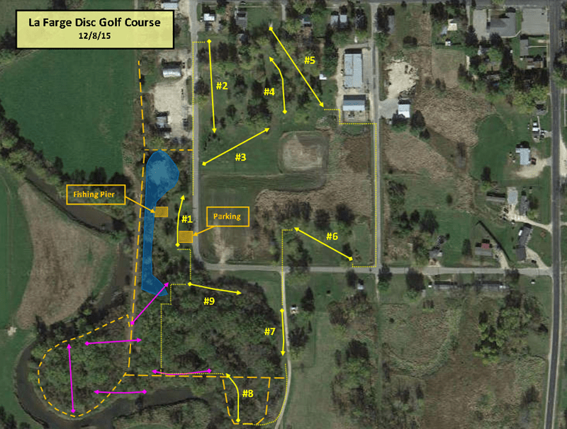La Farge Disc Golf Map - 12-8-15