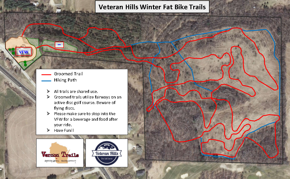 Veteran Hills Fat Bike Trails - 1-25-16