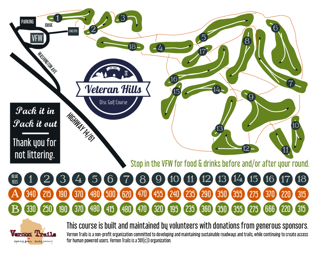 Veteran Hills Course Map