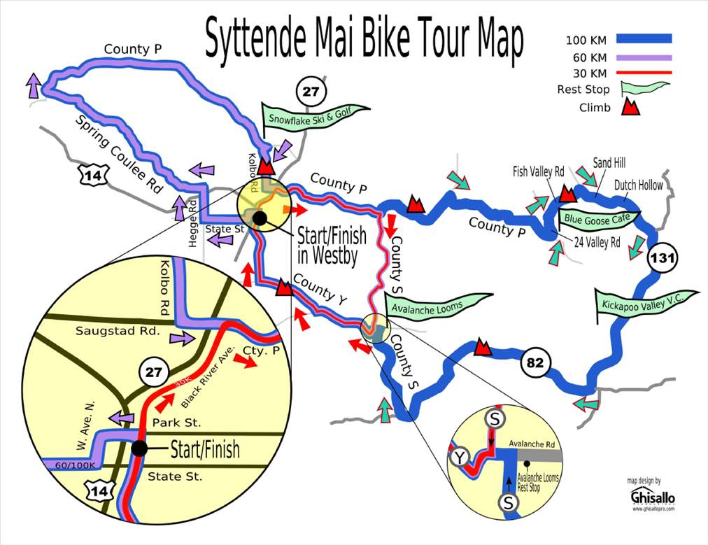 Syttende Mail Map